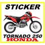 Tuning Motos Honda Tornado 250 Calcomanias, Monster, Fox