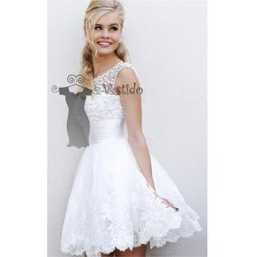 Vestido Lindo Noiva Curto Lindo Civil / Debutante Importado