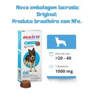 Antipulgas Msd Bravecto Para Cães De 20 A 40 Kg C/nfe