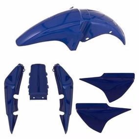 Kit Carenagem + Paralama Titan 150 Ano 2004 Azul Perolizado