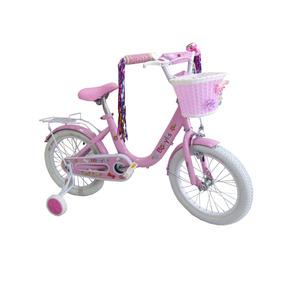 Bicicleta Color Rosa R16 Con Timbre, Canasta Y Parrilla