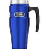 Thermos Sk1000bltri4 Stainless King 16 Oz Travel Mug With Ha