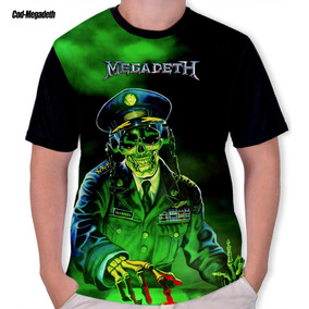 Camisa, Camiseta Megadeath Heavy Metal Rock