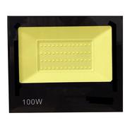 Holofote Refletor Led 100w Smd Bivolt Prova D'água Br Frio