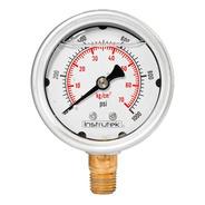 Manómetro Inox Alta Presión Glicerina 2.5 PLG, 1000 Psi