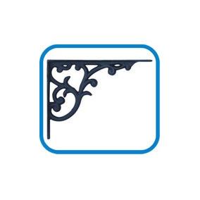 Suporte Prateleira Mão Francesa Cantoneira Ferro Decor 30