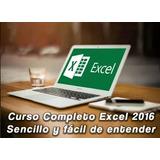 Video Curso Excel 2016 Super Completo-checa El Temario