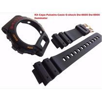 Kit Capa Pulseira Casio G-shock Dw-6600 Dw-6900 Série Ouro