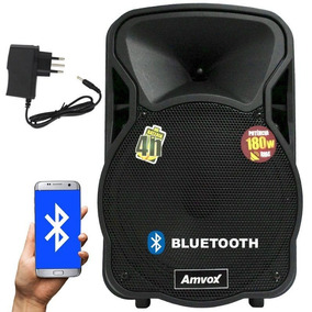 Caixa Som Amplificada Bluetooth Recarregável Bateria 180w