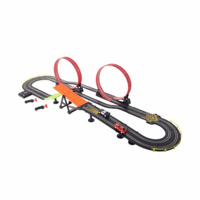 Pista Autos Carreras T/ Scalextric Loop Y Rampa 5.10 Mts