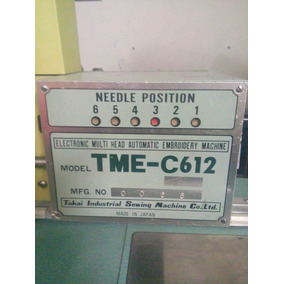 Maquina Tajima Tme C612, 12 Cabezas Para Restaurar O Piezas.