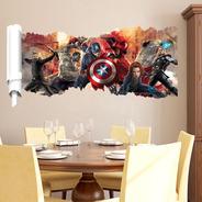 Papel De Parede Adesivo Para Quarto Sala Vidro Espelho Vingadores Era De Ultron Guerra Infinita Hulk Capitão Thor Ferro