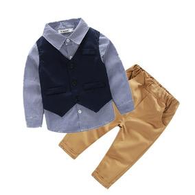 Ropa De Niños Conjunto 3 Pz Chaleco Camisa Pantalon Moderno