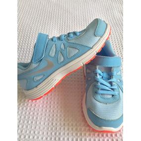 Zapatillas Nike Celestes T 32 Niña Nuevas