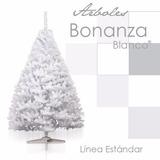 Arbol Pino Navidad Artificial Bonanza Frondoso 1.90mt Blanco
