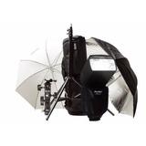 Flash Mitros Nikon + Tripode Rotula Sombrillas Bolso Phottix