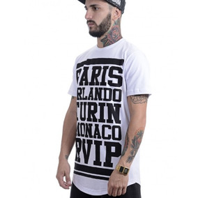 Camiseta Camisa La Mafia Longline Urbana Clothing Over Swag