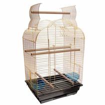 Gaiola Para Papagaio E Calopsita American Pets - Dourada