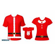 Roupa Natal Body Camiseta Papai Noel Mamae Noel Filho Filha