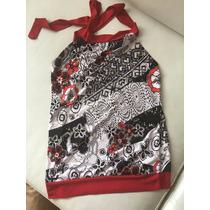 Blusa Importada Para Niña Negro Con Rojo Talla Unica