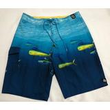 Bermuda Reef Azul Oceano Surf - Tamanho 42 - Importada