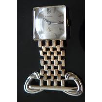 Reloj Plata Solida A Cuerda Suizo 17 Rubis Mujer Oro 12k