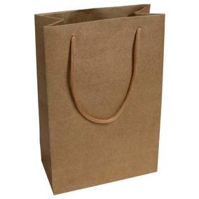 110 Sacolas Kraft 25x17x6cm Bolsa Papel 90g Alta Qualidade