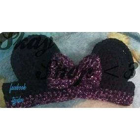Cinta Moño Lentejuela Minnie Mousse Tejido Crochet Moda Skay
