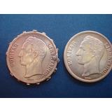 Moneda De Plata De 2 Bolivares Año:1945 10 Gramos Ley 835