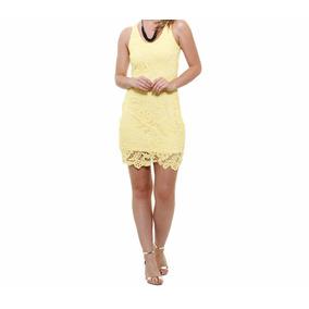 Vestido Feminino Em Renda Amarelo Tam 42!novo
