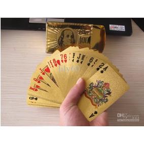 Naipes De Poker Con Baño De Oro 24 Kilates Impermeables