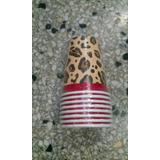 Vasos Leopardo Animal Print Y Mas