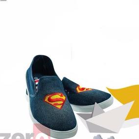 Zapatos De Dama Super Man Batman Moda Ponte Sexy Marca Zero