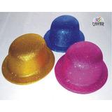 Sombreros Bombines Brillantina Variedad De Colores Cotillón