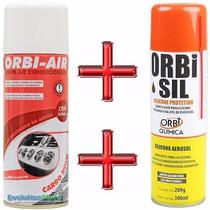 Spray Limpa Ar Condicionado Carro Novo + Silicone Carro Novo