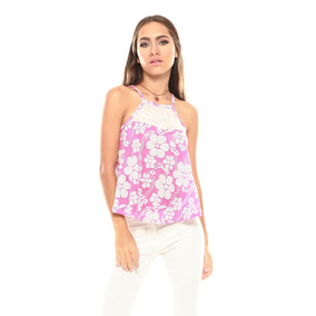 Saints Clothes Blusa Tiritas Flores Rosada Detalles Zebra
