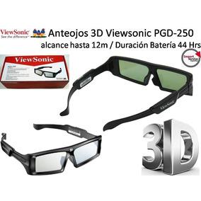 Gafas 3d Viewsonic Pgd-250 / Alcance Hasta 12m / Usb /44 Hrs