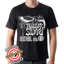 Camiseta Instrumentos Musicais Ernie Ball Strings.