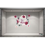Vidriera Feliz Dia De La Madre Mama Cartel