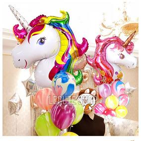 Globo Unicornio Jumbo 105 Cm Metalico Fiesta Animacion