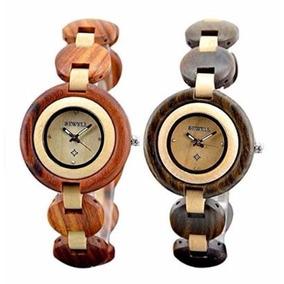 Reloj Mujer De Madera Maple Y Sándalo, Elegante Exclusivo