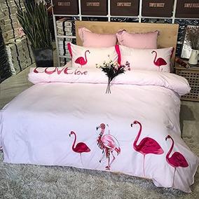 Jufucai Cómodo Y Respirable Puro Algodón Patrón De Flamingo