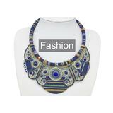 Colar Pedras Em Tons De Azul Moda Fashion Moda Verão.
