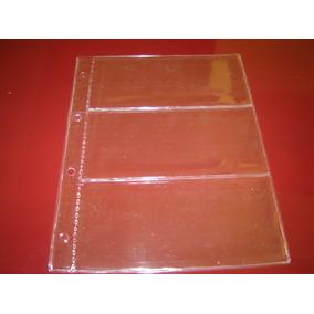 Folha Pvc P/ 3 Cédulas (medida 31x24 Cm) C/4 Furos Tchequito