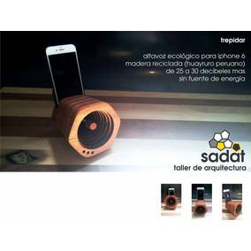 Altavoz Ecológico De Madera Reciclada 25 Db Para Iphone 6
