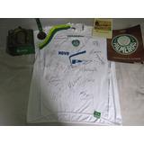 Kit Palmeiras Histórico Camisa Autografada Medalha Maquete
