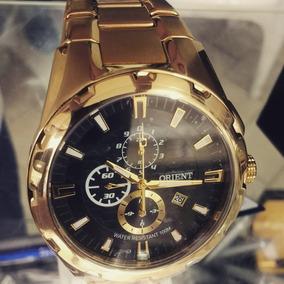Relógio Orient Folheado A Ouro Garantia De 1 Ano E Nf