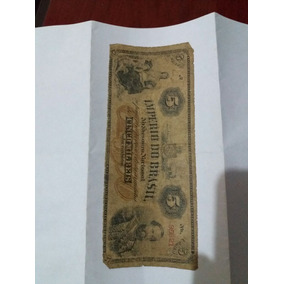 Cédula Império Do Brasil 5mil Réis 5.000 ( Bl Antiguidades)