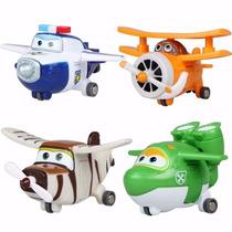 Super Wings Discovery Kids Kit 4 Aviões - Pronta Entrega