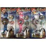 Yo-kai Watch Reloj Inportado Luz Y Sonido Inclulle 3 Discos